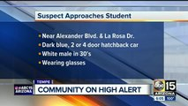 Suspect at large after trying to lure boy into car