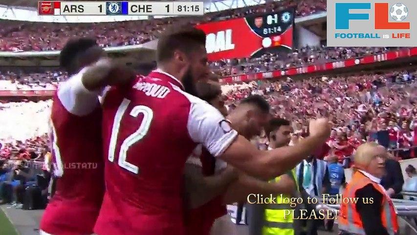 Sead Kolasinac Goal ~ Arsenal vs Chelsea 1-1 06/08/2017 [HD]