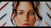 Drawing Jennifer Lawrence from The Hunger Games