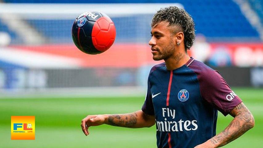 Neymar First Training in Paris Saint-Germain with Dani Alves, Lucas, Thiago Silva