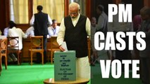 PM Narendra Modi casts vote for Vice-Presidential elections | Oneindia News