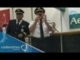 Entrevista al piloto Carlos Corona, del vuelo de Aeroméxico que aterrizó de emergencia en Irlanda