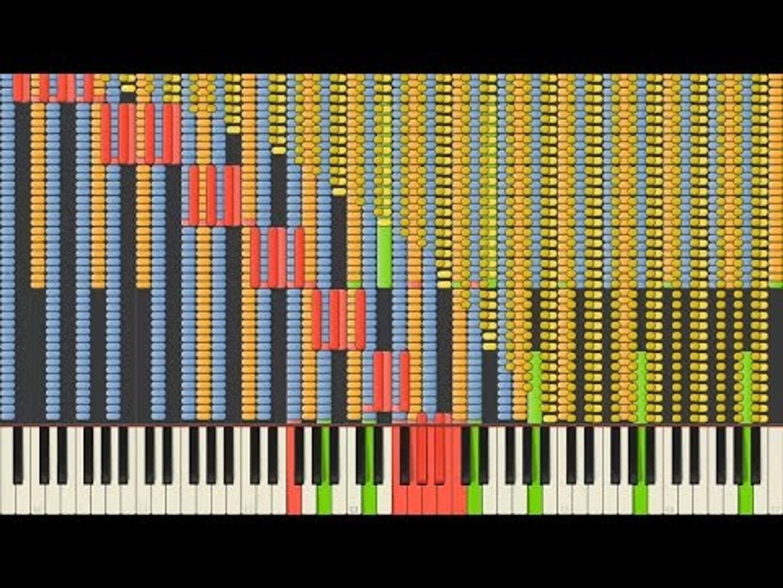 [Black MIDI] Synthesia – Undertale OST - Megalovania 82,000 notes ~ Daniel  Gregory