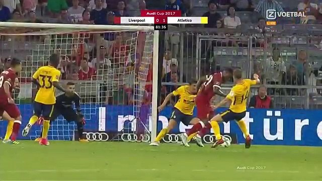 Firmino Goal Penalty Liverpool vs Atletico Madrid 1-1 AUDI CUP 02.08.2017