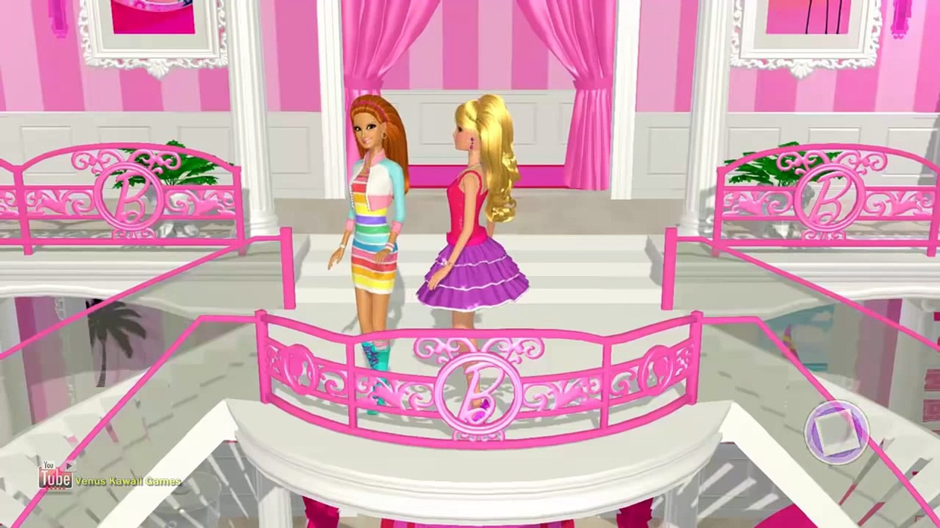 KIDS PLAY MAKEUP APPS?! (Kids Re: Gaming) Barbie Dreamhouse Party Game Walkthrough Shoe