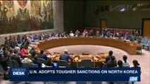 i24NEWS DESK | U.N. adopts tougher sanctions on North Korea | Sunday, August 6th 2017