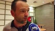 Geoffrey JOURDREN après le match Nancy - Niort...