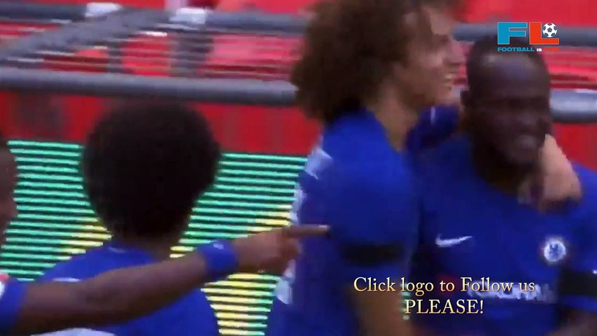 Victor Moses Goal - Arsenal vs Chelsea 0-1 06-08-2017 [HD]