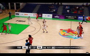 Mariana Silva marca 2 pts no jogo Bulgaria v Portugal - FIBA U18 Women's European Championship 2017 - DIV B