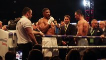 ANTHONY JOSHUA CALLS OUT TYSON FURY IMMEDIATELY AFTER TKO AS DISTRAUGHT KLITSCHKO BROTHERS