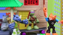 Et combats moitié héros Méga coquille tortues Ninja bloks donnie tigerclaw rocksteady 2017