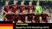Germany Full squad For 2018 Russia || WORLD CUP || German team for russia Worldcup || 2017 || HD