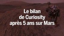 Que fait Curiosity sur Mars depuis 5 ans ?