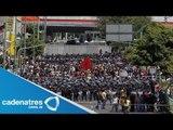 Anarquistas y maestros protestan por Informe de Peña Nieto / Primer Informe Peña Niet