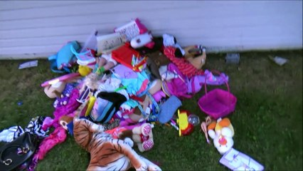 Bad Baby Toy Room Cleanup Aftermath Freak Daddy Chases Victoria & Annabelle