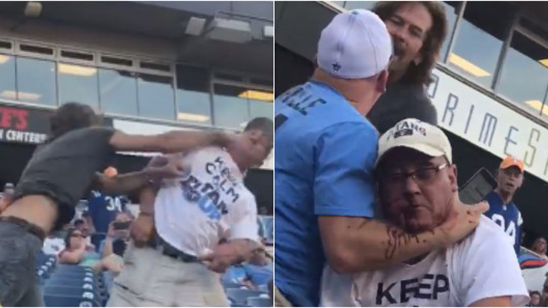 Tennessee Titans Fans Get into BLOODY Fight During Scrimmage