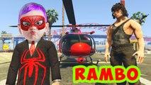Rambo 5 - John Rambo ve Meraklı Örümcek Çocuk Çizgi Filmi Bölüm 1 (Gta 5 Gerçek Hayat)