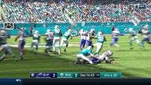 Bills Block Punt & Set Up Tyrod Taylors TD Run!   Bills vs. Dolphins   NFL