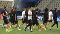 Real Madrid entrena en Macedonia de cara al encuentro con el Manchester United