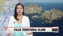 :  Korea's defense ministry logs official complaint over Japan's latest territorial claim to Dokdo