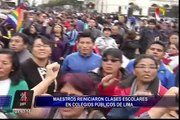 Profesores reinician clases en colegios públicos de Lima
