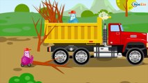 The Yellow Bulldozer Digging - Construction Trucks & Heavy Vehicles Cartoons for children