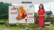 Nation under heatwave, rain expected down south