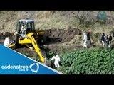 Trasladan al Distrito Federal cuerpos hallados en fosas clandestinas en Jalisco; ya van 44 cadáveres