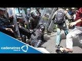 Enfrentamiento de CNTE contra granaderos en Bucareli