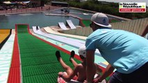 VIDEO. Sensations garanties au Drop-In water jump de Vivonne