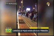 Surco: carreras ilegales de piques ahora se realizan en avenida Primavera