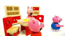 Baby Peppa Pig Little George Tooth Fairy Play Doh Stop Motion Video Kids Cartoon Movie