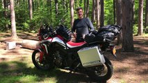 Tusk panniers on Africa Twin