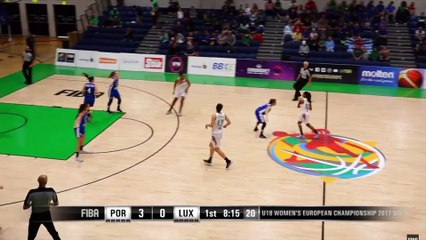 Mariana Silva marca 12pts no 1º período - Portugal - Luxembourg - FIBA U18 Women's European Championship 2017 - DIV B