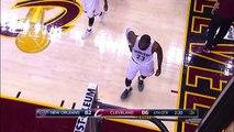 LeBron James & Anthony Davis Jumps into the Crowd | Pelicans vs Cavaliers | Jan 02 17