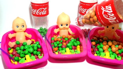 Learn Colors Nursery Rhymes Color Finger Family Song Baby Doll Bath Time Coca Cola Bottle Video