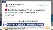Un véhicule a foncé ce matin sur des militaires de l'opération Sentinelle à Levallois-Perret, 6 d'entre eux sont blessés