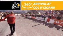 Finish at the top of the col d'Izoard - 360° - Tour de France 2017