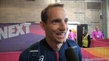 Londres 2017 : Renaud Lavillenie après son podium