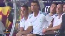Les folles réactions de Cristiano Ronaldo sur le banc lors de la Supercoupe d'Europe