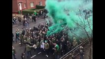 Celtic Rangers Old Firm Green Brigade Cortege