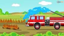 Camión de Bomberos. Dibujos animados de coches y camiones para niños en español - Carros para niños