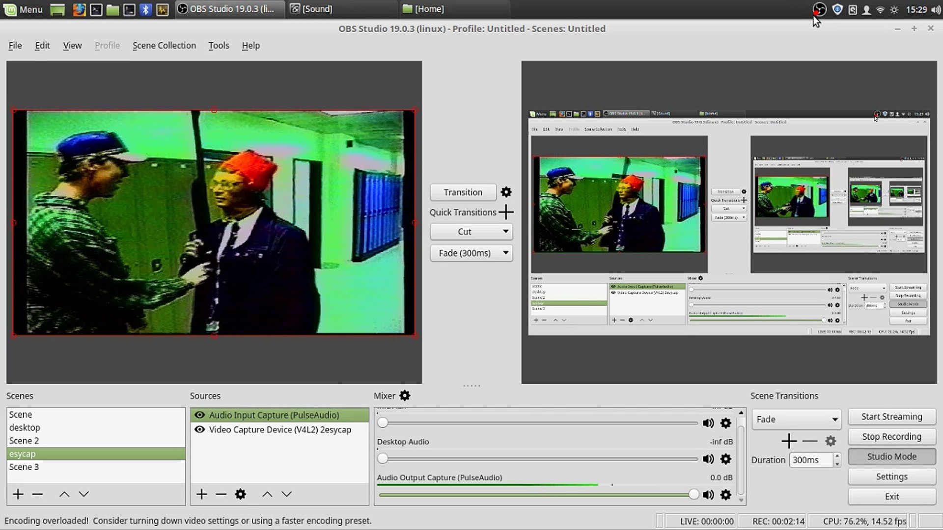 Video Capture VHS TO MP4 OBS Linux