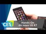 Hands-On do novo LG K7 - CES 2016 - TecMundo