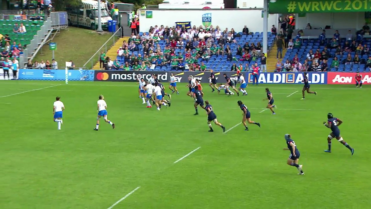 HIGHLIGHTS USA v Italy at Women's Rugby World Cup
