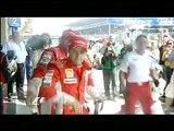 Brazil 2008 Kimi Räikkönen, Felipe Massa and Jarno Trulli after Qualifying
