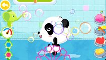 Baby Pandas Bath Time BabyBus Kids Games | personal hygiene | being clean |bath toys | an