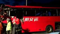 Bus contro un muro in Cina: 36 morti