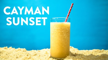 Cayman Sunset Frozen Rum Cocktail