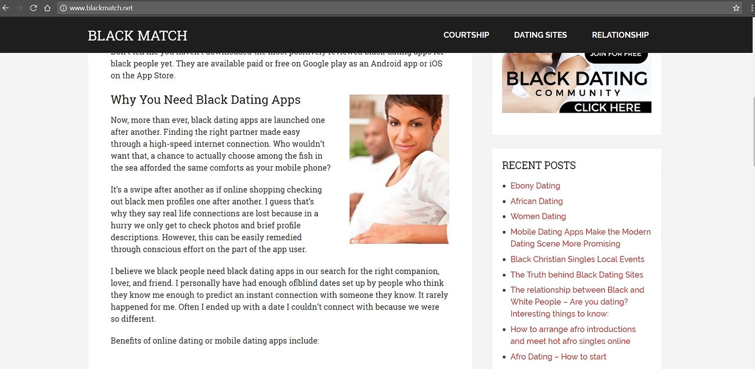 gratis dating website voor Black singles